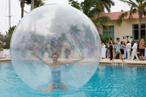 Lady in the bubble, photography, Creative Focus