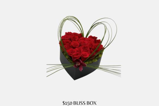 $150 Bliss Red Rose Heart Box